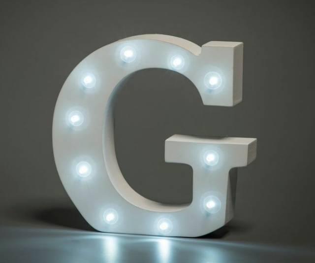 LED Buchstabe Lights Letter G