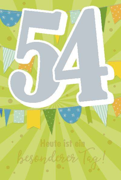 Glückwunschkarte zum 54. Geburstag