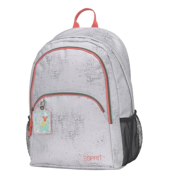 esprit rucksack in off white und schriftzug. Black Bedroom Furniture Sets. Home Design Ideas