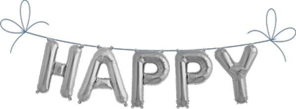Folien Ballon Buchstaben Set HAPPY