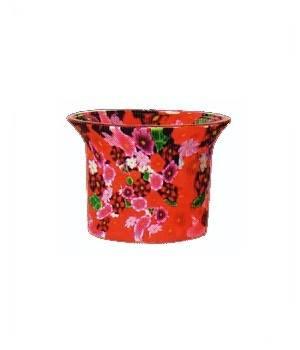 Votivkerzenglas Blumen Motiv