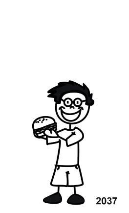 My Sticker Family Junge mit Hamburger