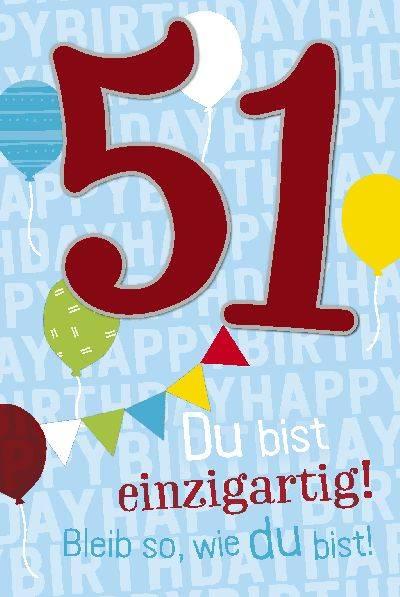 Depesche Geburtstagskarte 51.Geburtstag mit Musik