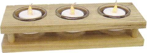 Teelichthalter aus Holz