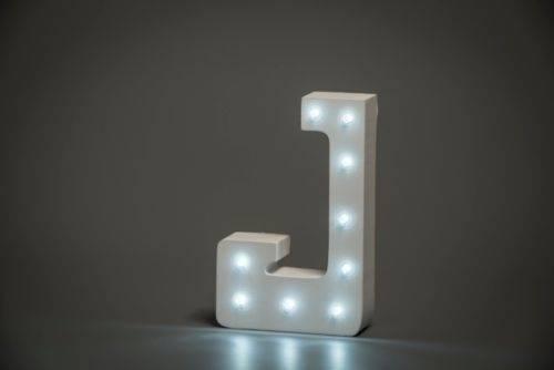 LED Buchstabe Lights Letter J