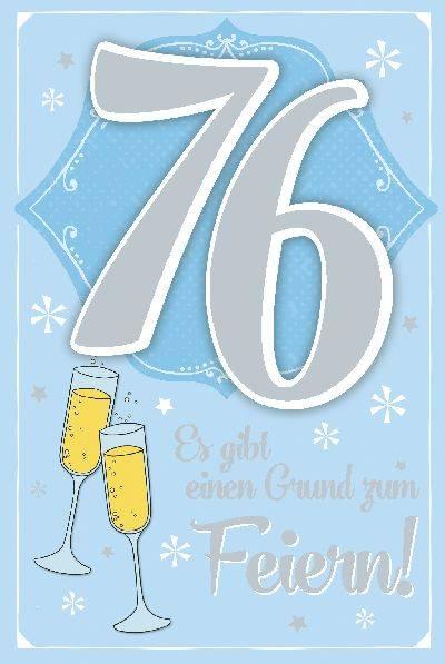 Glückwunschkarte zum 76. Geburstag