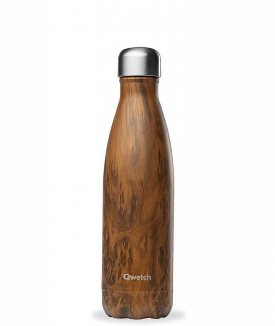 Qwetch Thermoflasche Wood