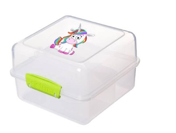 Sistema Lunch Cube to Go Einhorn Grün
