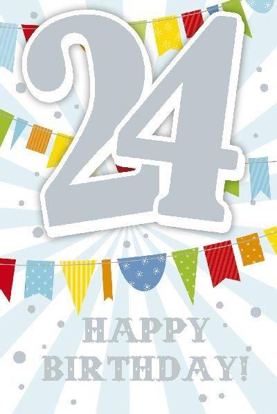 Glückwunschkarte zum 24. Geburstag