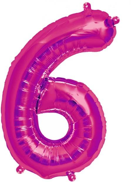 Folien Ballon Zahl 6