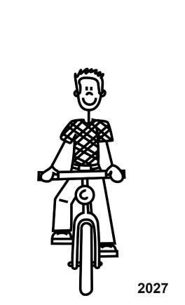 My Sticker Family Junge mit Fahrrad