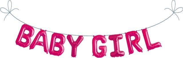 Folien Ballon Buchstaben Set BABY GIRL