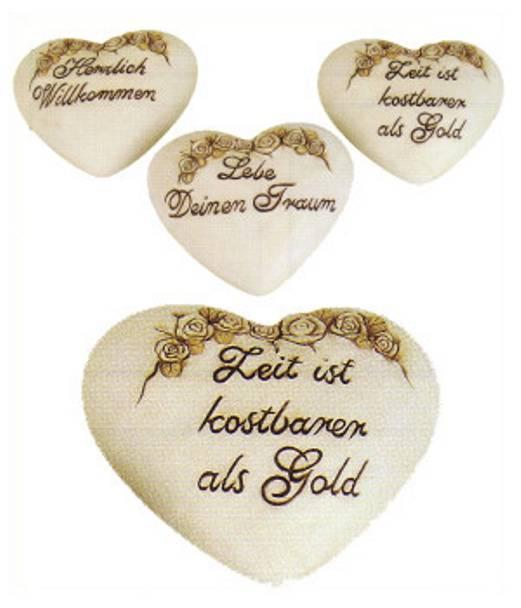 Keramik Herz mit Spruch