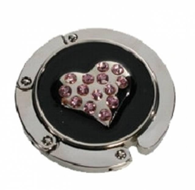 Handtaschenhalter Herz in Silber