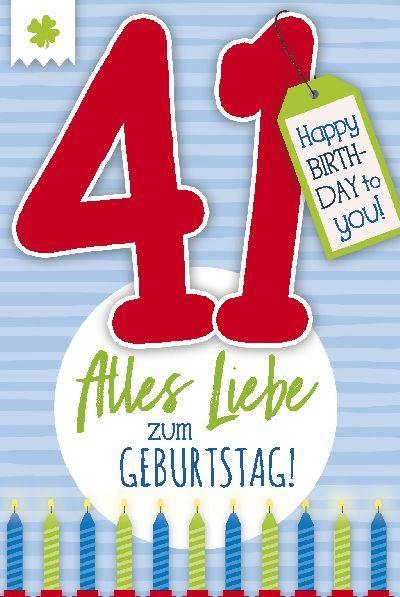Depesche Geburtstagskarte 41.Geburtstag mit Musik