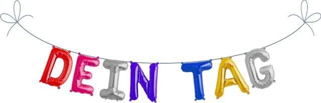 Folien Ballon Buchstaben Set DEIN TAG