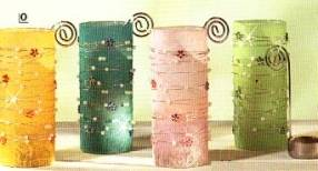 Teelichthalter Perlen