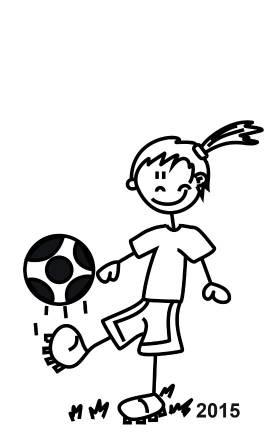My Sticker Famly Mädchen mit Fußball