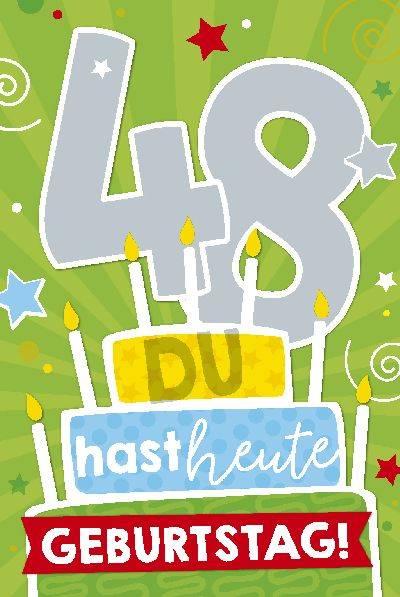 Glückwunschkarte zum 48. Geburstag