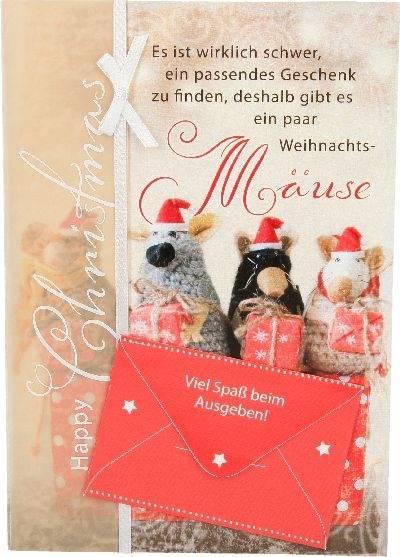 Weihnachtskarte Mäuse