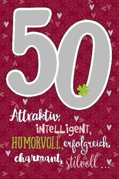 Glückwunschkarte zum 50. Geburstag