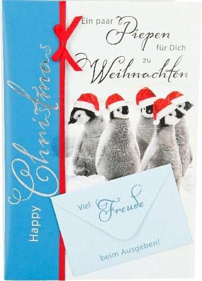 Weihnachtskarte Pinguin