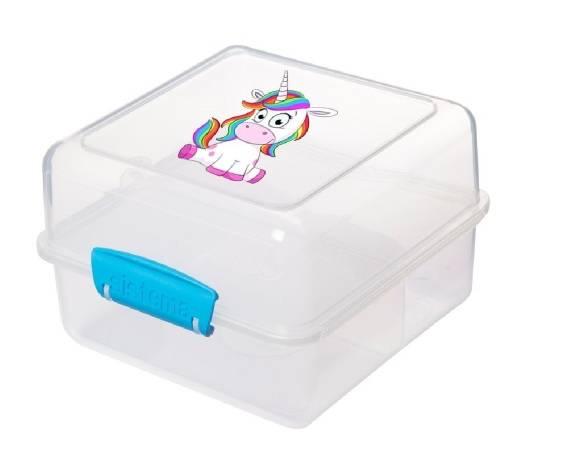 Sistema Lunch Cube to Go Einhorn Blau