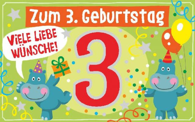 Depesche Geburtstagskarte mit Teelicht   3. Geburtstag
