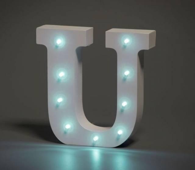 LED Buchstabe Lights Letter U