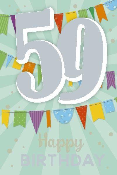 Glückwunschkarte zum 59. Geburstag