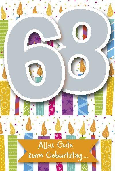 Glückwunschkarte zum 68. Geburstag