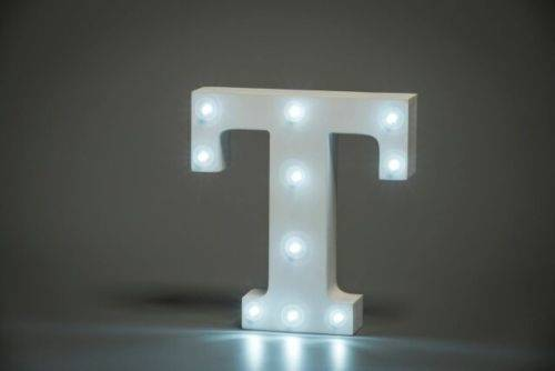LED Buchstabe Lights Letter T