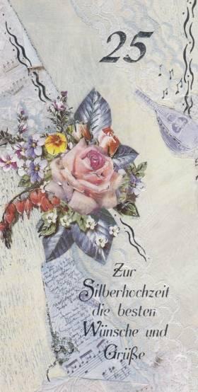 Glückwunschkarte zur Silberhochzeit
