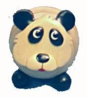 Zettelhalter Panda