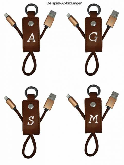 Yesbox USB Ladekabel Schlüsselanhänger mit Buchstabe