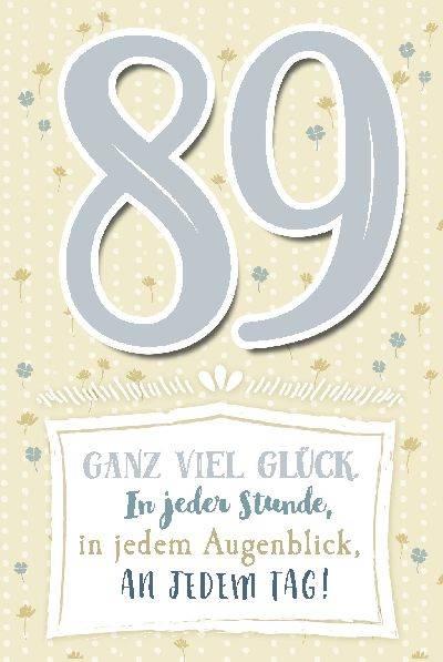 Glückwunschkarte zum 89. Geburstag