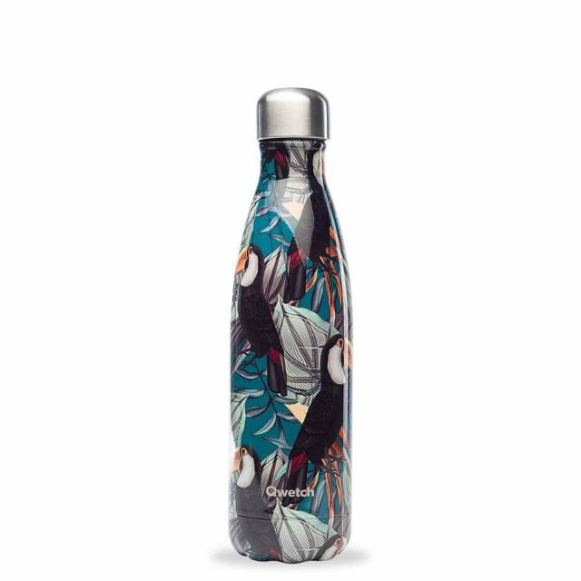 Qwetch Trinkflasche Tropical Tucan