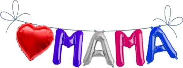 Folien Ballon Buchstaben Set MAMA