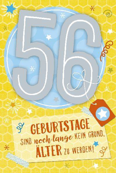 Glückwunschkarte zum 56. Geburstag