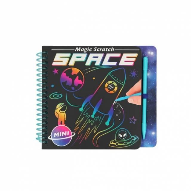 Mini Magic Scratch Book Malbuch Space