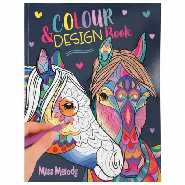 Miss Melody Colour and Design Malbuch