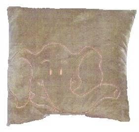 Braunes Kissen mit Elefanten Motiv