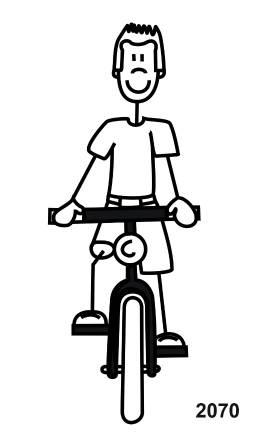 My Sticker Family Pappa mit Fahrrad