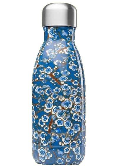 Qwetch Flasche Flowers Blau