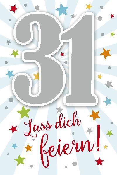 Depesche Geburtstagskarte 31.Geburtstag mit Musik