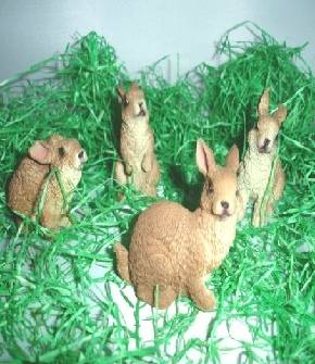 Hasen aus Polyresin im Set