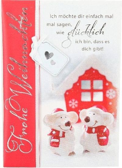 Weihnachtskarte Danke Mäuse