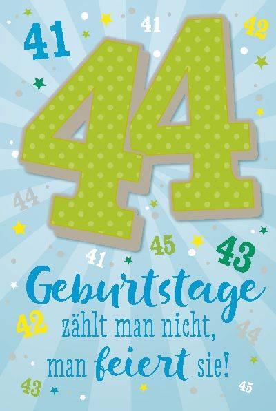 Glückwunschkarte zum 44. Geburstag
