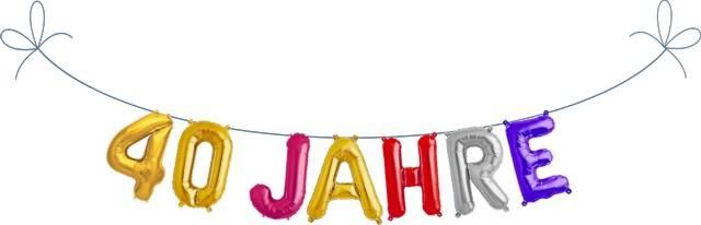 Folien Ballon Buchstaben Set 40 JAHRE