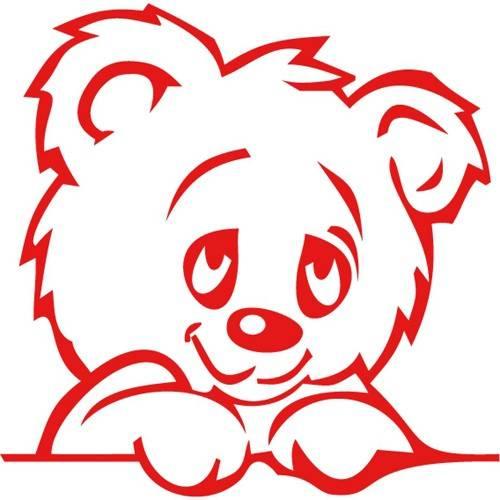 Wandtattoo Bär in Rot